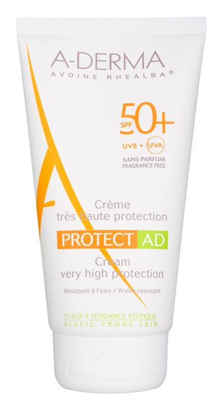 A-Derma Protect AD cremă cu protecție solară pentru piele atopică SPF 50+