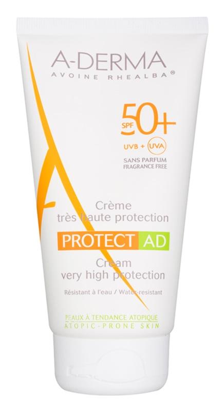 A-Derma Protect AD ochranný opaľovací krém pre atopickú pokožku SPF 50+