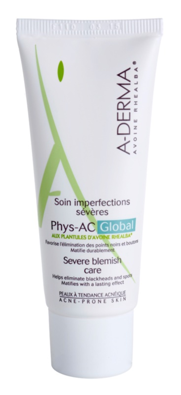 A-Derma Phys-AC Global Complete Care For Problematic Skin, Acne