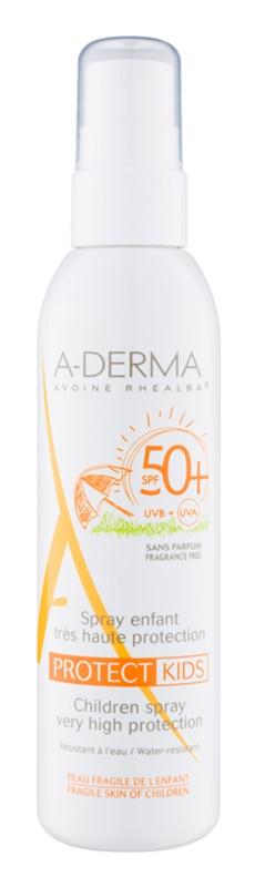 A-Derma Protect Kids spray pentru protecție solară SPF 50+ pentru copii