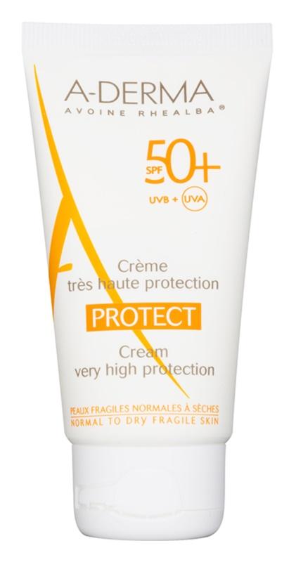 A-Derma Protect Beschermende Crème voor Normale en Droge Huid  SPF 50+