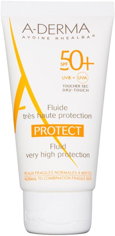 A-Derma Protect ochranný fluid pre normálnu až zmiešanú pleť SPF 50+