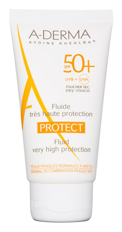 A-Derma Protect Sunscreen Fluid for Normal to Combination Skin SPF 50+