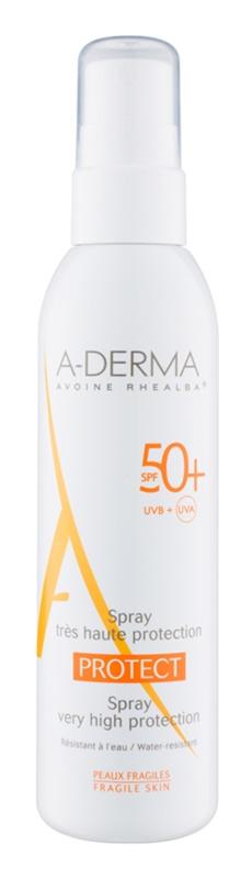 A-Derma Protect zaščitni losjon v pršilu SPF 50+