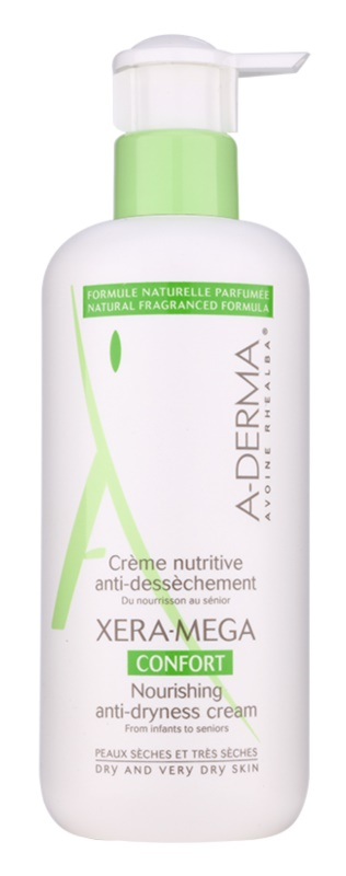 A-Derma Xera-Mega Confort creme nutritivo para rosto e corpo para pele seca a muito seca