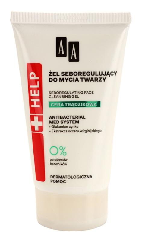 AA Cosmetics Help Acne Skin gel nettoyant pour éliminer le sébum