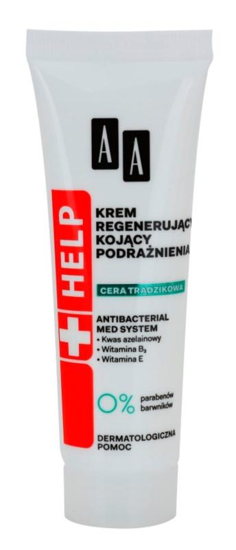 AA Cosmetics Help Acne Skin καταπραϋντική κρέμα νύχτας με αναγεννητικό αποτέλεσμα