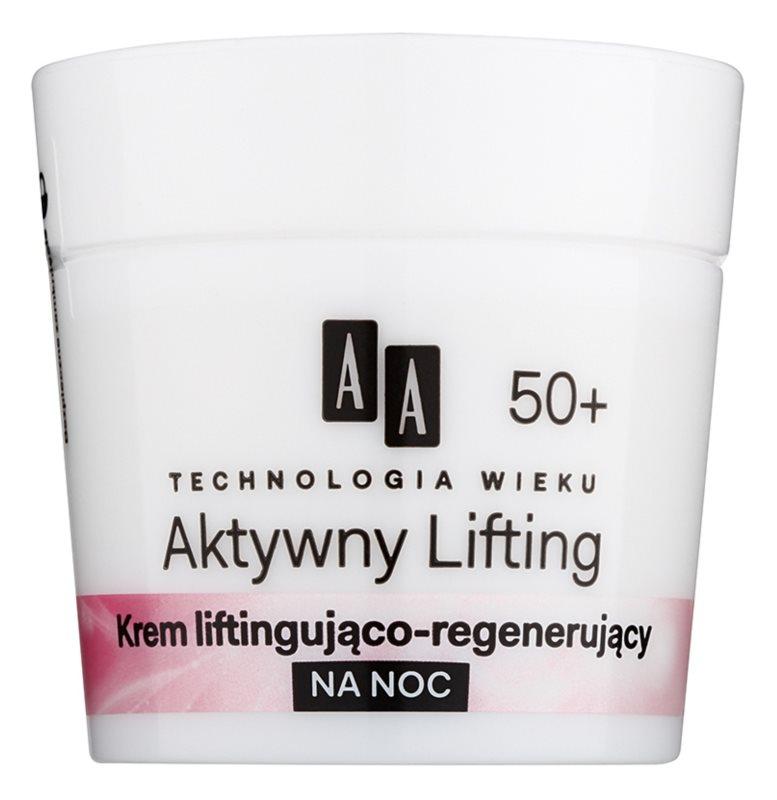 AA Cosmetics Age Technology Active Lifting noční regenerační zpevňující krém 50+