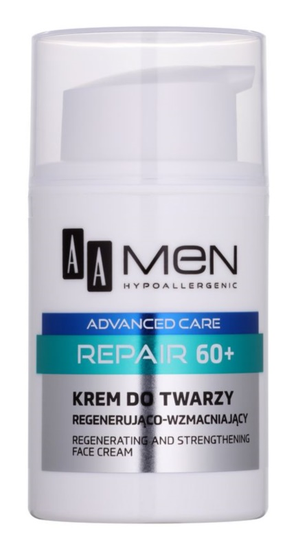 AA Cosmetics Men Advanced Care bőrmegújító regeneráló arckrém 60+