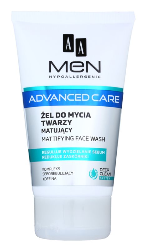 AA Cosmetics Men Advanced Care matirajući gel za čišćenje za lice