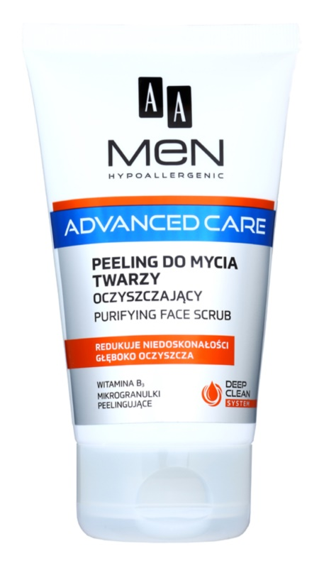 AA Cosmetics Men Advanced Care čistiaci peelingový gél na tvár