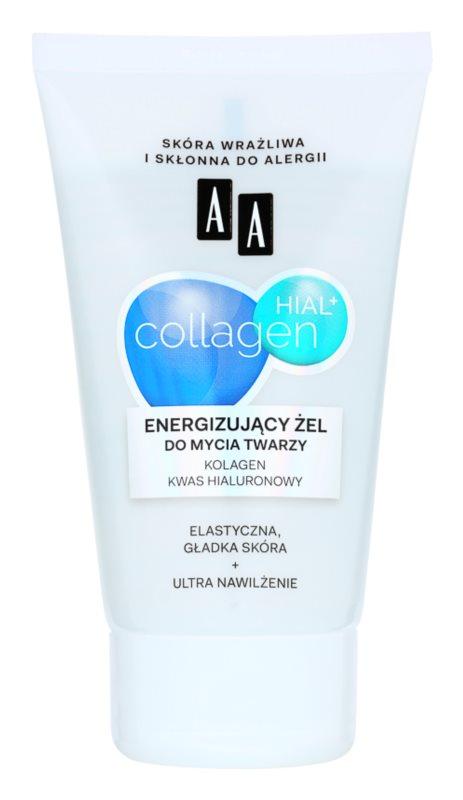 AA Cosmetics Collagen HIAL+ енергизиращ почистващ гел 30+