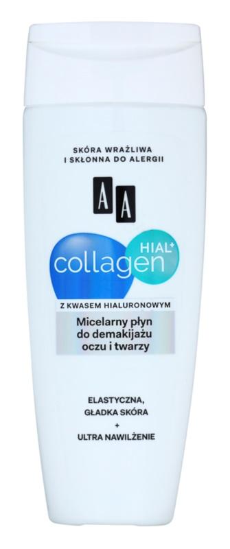 AA Cosmetics Collagen HIAL+ micellás víz normál és száraz, érzékeny bőrre az arcra és a szemekre