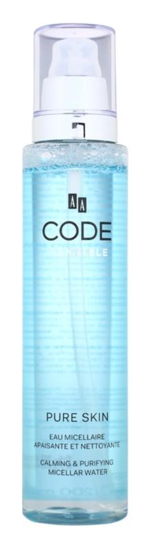 AA Cosmetics CODE Sensible Pure Skin eau micellaire nettoyante