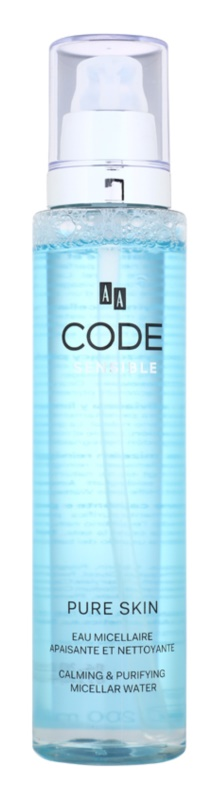 AA Cosmetics CODE Sensible Pure Skin мицеларна почистваща вода