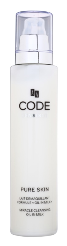 AA Cosmetics CODE Sensible Pure Skin čisticí pleťové mléko