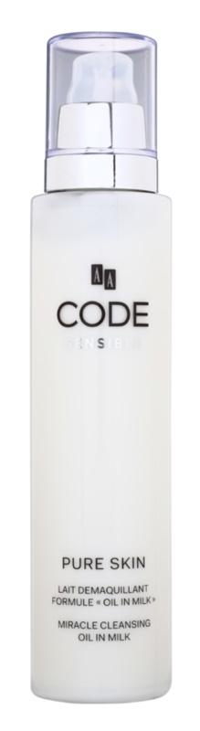 AA Cosmetics CODE Sensible Pure Skin почистващо мляко за тяло