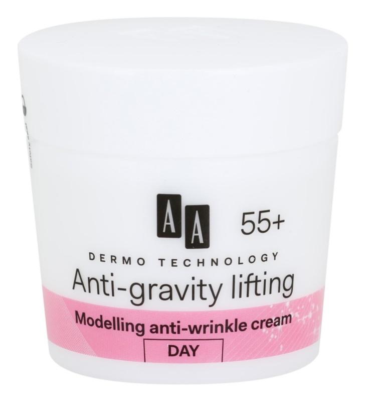 AA Cosmetics Dermo Technology Anti-Gravity Lifting Modelerende Crème met Anti-Rimpel Werking  55+