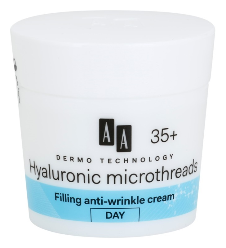AA Cosmetics Dermo Technology Hyaluronic Microthreads crema giorno riempitiva antirughe 35+