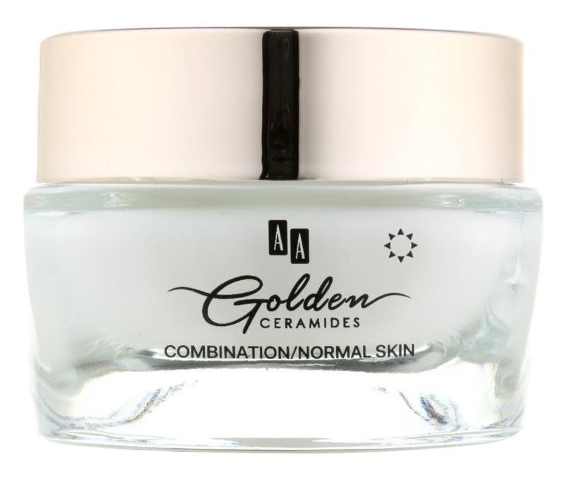 AA Cosmetics Golden Ceramides denný protivráskový krém  s matným efektom