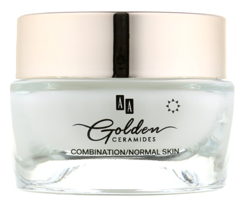 AA Cosmetics Golden Ceramides dnevna krema protiv bora s mat efektom