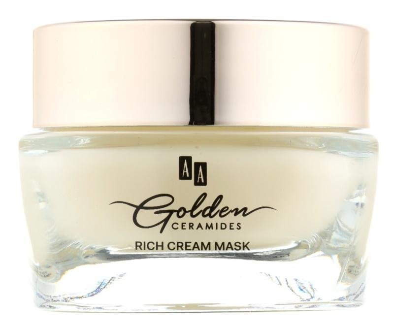 AA Cosmetics Golden Ceramides obnovující krémová maska se zlatem