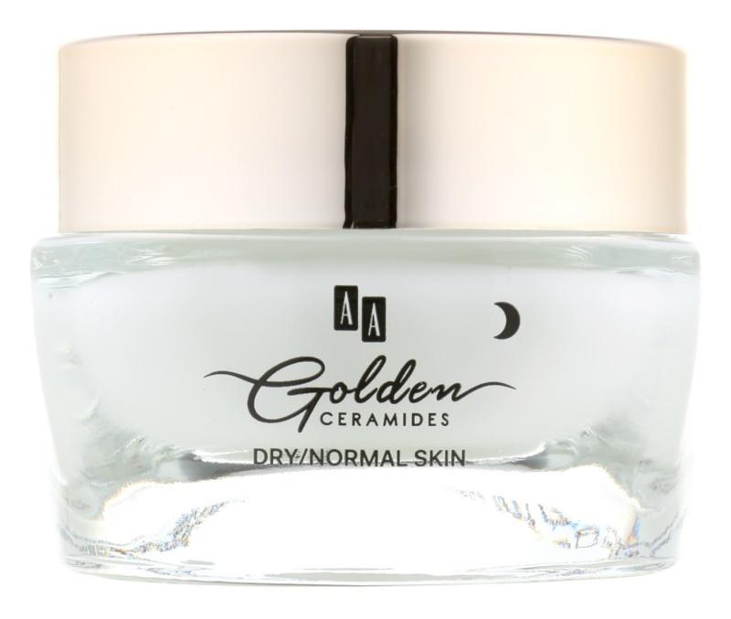 AA Cosmetics Golden Ceramides intenzív éjszakai krém regeneráló hatással
