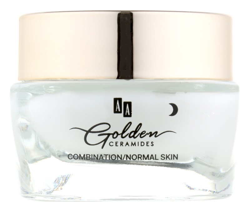 AA Cosmetics Golden Ceramides crema notte lisciante intensa