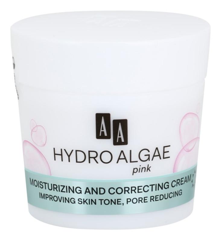 AA Cosmetics Hydro Algae Pink Korrekturcreme Spendet der Haut Feuchtigkeit und verfeinert die Poren