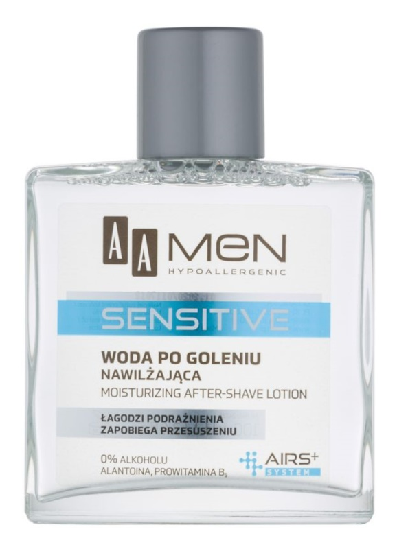 AA Cosmetics Men Sensitive After Shave Water mit feuchtigkeitsspendender Wirkung