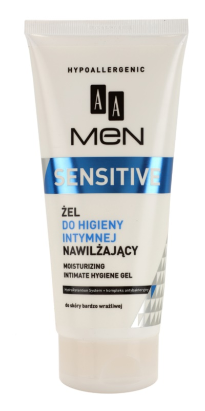 AA Cosmetics Men Sensitive gel per l'igiene intima effetto idratante