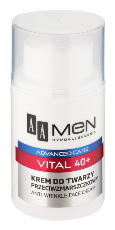 AA Cosmetics Men Vital 40+ αντιρυτιδική κρέμα ενάντια στη γήρανση της επιδερμίδας