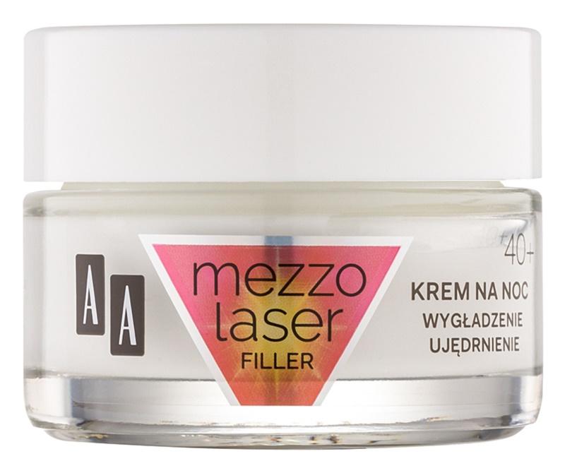 AA Cosmetics MezzoLaser zpevňující noční krém s regeneračním účinkem 40+