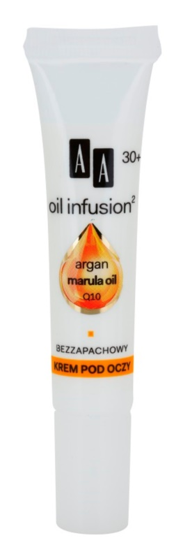 AA Cosmetics Oil Infusion2 Argan Marula 30+ crema antirughe occhi effetto idratante