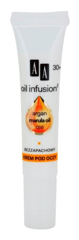 AA Cosmetics Oil Infusion2 Argan Marula 30+ krema protiv bora oko očiju s hidratacijskim učinkom