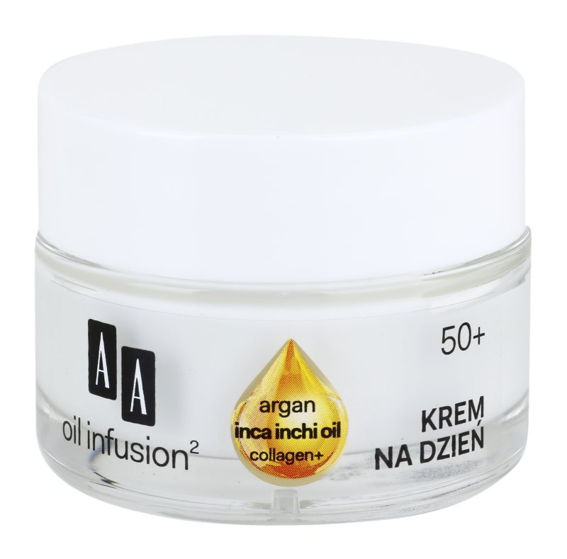 AA Cosmetics Oil Infusion2 Argan Inca Inchi 50+ denný liftingový krém proti vráskam
