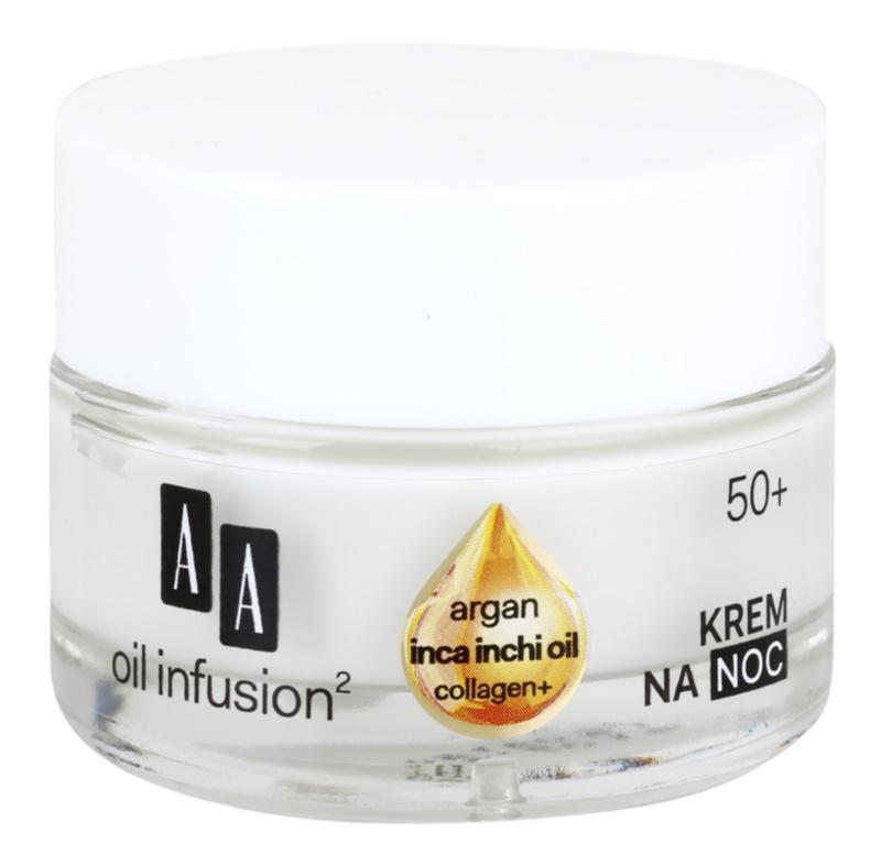 AA Cosmetics Oil Infusion2 Argan Inca Inchi 50+ crema notte rigenerante effetto modellante