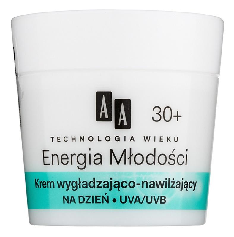 AA Cosmetics Age Technology Youthful Vitality feuchtigkeitsspendende und glättende Gesichtscreme 30+