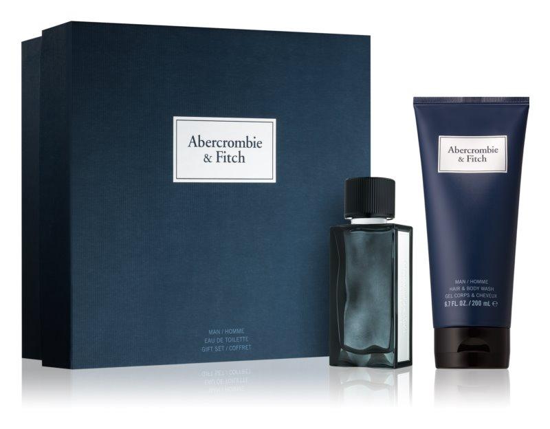 Abercrombie & Fitch First Instinct Blue подаръчен комплект I. (за мъже)