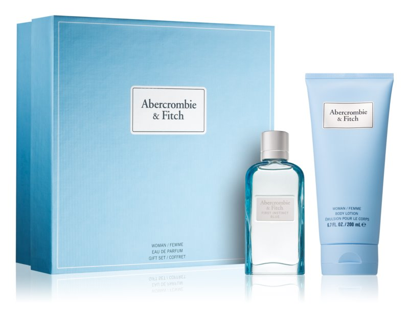 Abercrombie & Fitch First Instinct Blue coffret cadeau III. (pour femme)