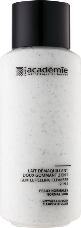 Academie Normal to Combination Skin jemne čistiace mlieko s exfoliačným účinkom 2 v 1