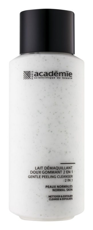 Academie Normal to Combination Skin lapte demachiant delicat cu efect exfoliant 2 in 1