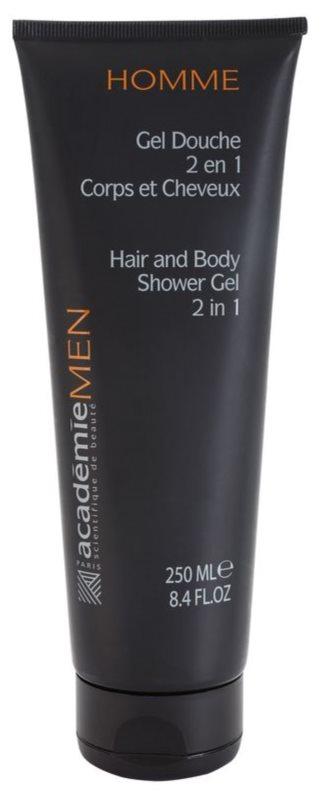 Academie Men gel de banho para corpo e cabelo 2 em 1
