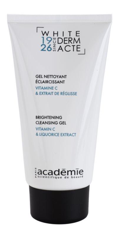 Academie Derm Acte Whitening почистващ гел  за озаряване на лицето