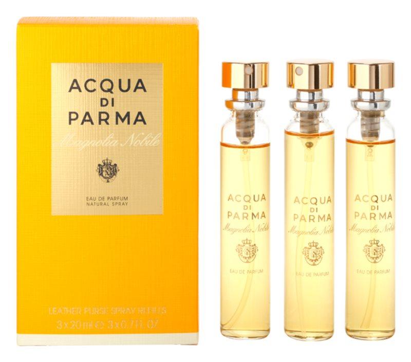 Acqua di Parma Nobile Magnolia Nobile Eau de Parfum voor Vrouwen  3 x 20 ml (3x Navulling met verstuiver)