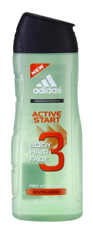 Adidas 3 Active Start (New) gel de duche para homens 400 ml