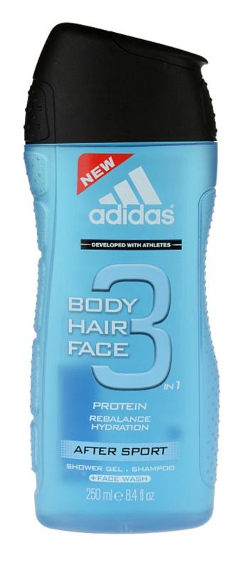 Adidas 3 After Sport Shower Gel for Men 250 ml