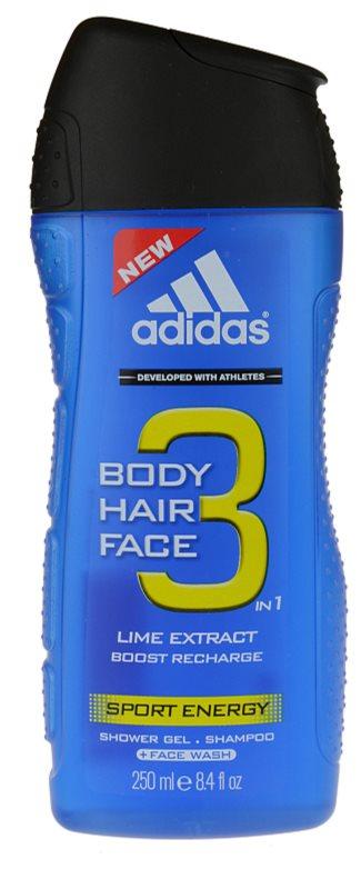 Adidas A3 Sport Energy Douchegel voor Mannen 250 ml