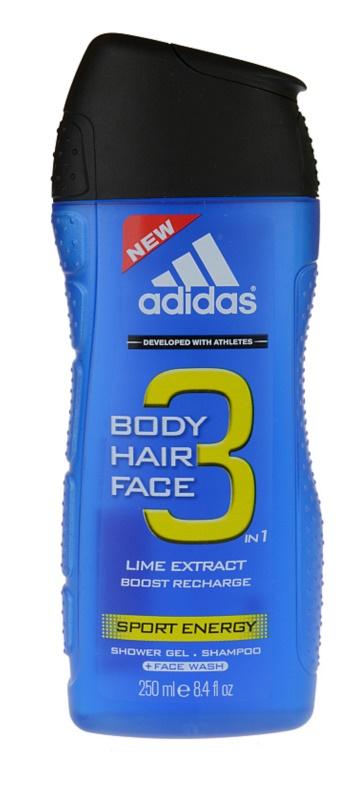 Adidas A3 Sport Energy gel doccia per uomo 250 ml