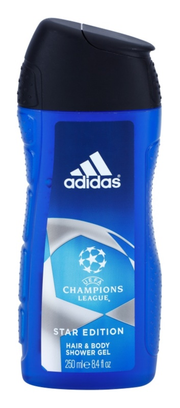 Adidas Champions League Star Edition gel de duche para homens 250 ml